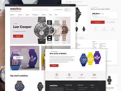 Watch4u ui ux ecommerce clean webdesign web fashion bag watch