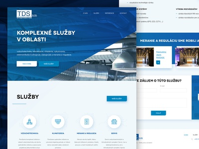 TDS landigpage ui ux clean webdesign web cooling condition air
