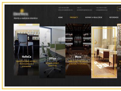 New project luxury furniture yellow black webdesign web ux ui landigpage