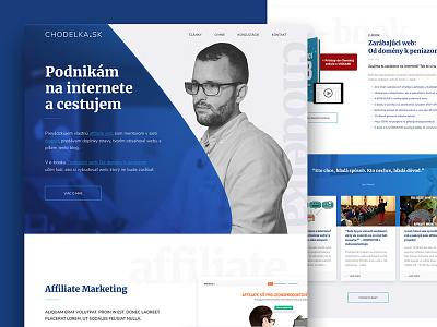 Chodelka webdesign web ux ui landingpage affiliate blue