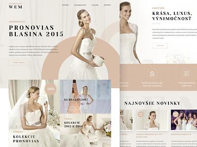 Wedding salon luxury landingpage web webdesign ui ux bride wedding