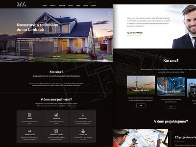 VM Project architect landing homepage ux ui webdesign gold black
