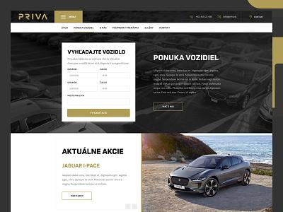 Priva - Rent a car rent car web layout landing website ux ui webdesign