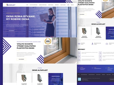 Alfaplast windows website layout landing web ui webdesign