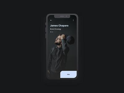 Freelancer App design app ui