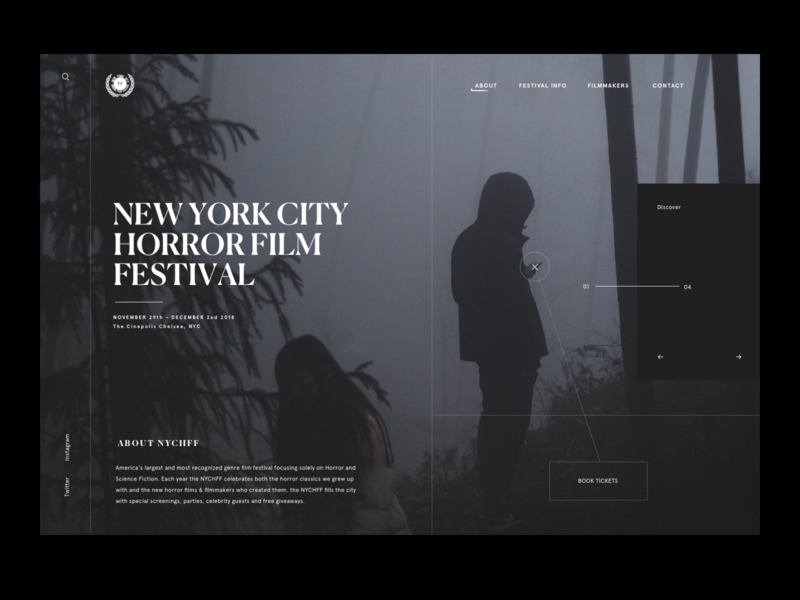 NYC Horror Film Festival ui