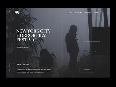 NYC Horror Film Festival ui