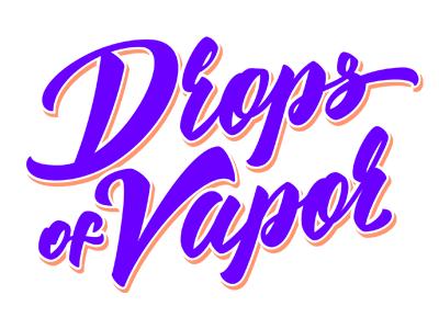 Drops of Vapor logotype logo smoke cigarette vape lettering cloud steam
