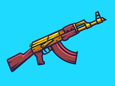 AK-47 ak47 shot assault blue gun weapon vodka russia gold ussr ak-47 kalashnikov
