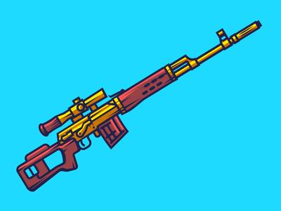 Svd — Dragunov gold svd russia ussr sniper rifle gun weapon soviet dragunov