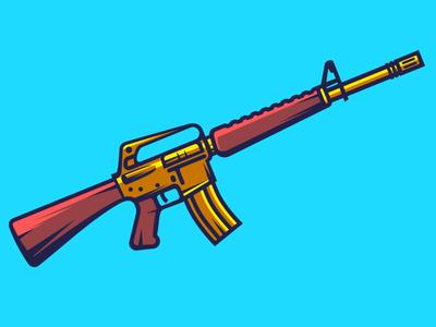 M16       swat strike shot assult weapone gun american rifle ar15 m16