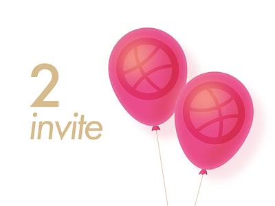 2 invite! new invites invite invitation invit drible dribbble denboroda