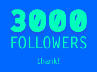 3000 followers! Thank!!!