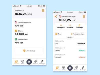 Crypto wallet transfer dollar bitcoin tabbar money interface wallet app wallet crypto