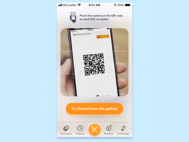 Crypto wallet scanning QR crypto wallet wallet app interface money tabbar dollar transfer bitcoin scanning scanned