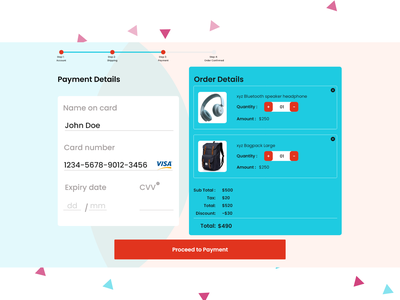 Credit Card Check out website ui design credit card checkout daily ui 002 shopping basket payment checkout payment page