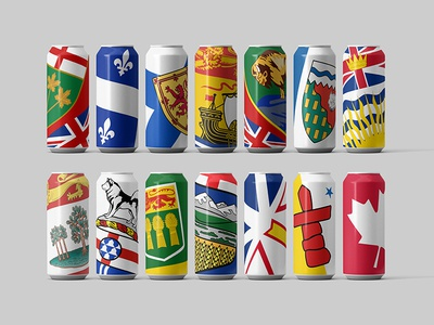 Beer Cans for Canada's Provinces & Territories