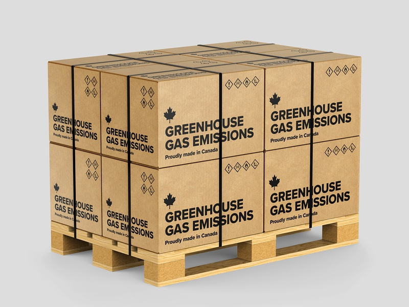 Boxes of greenhouse gas emissions