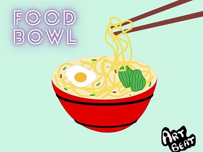 Food Bowl - Food Illustration - 100 days of illustration typography ui flat vector branding logo graphic design ux illustration design