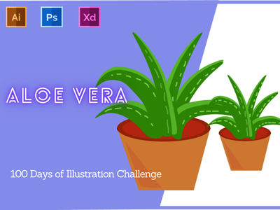 Day-11-Plant Illustration-Aloe Vera typography vector ui branding logo graphic design ux illustration flat design