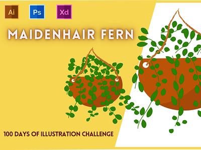 Day-15-Plant Illustration-Fern typography vector ui branding logo graphic design ux illustration flat design