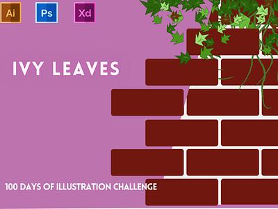 Day-16-Plant Illustration-Ivy Leaves vector branding ui logo graphic design ux illustration flat design typography