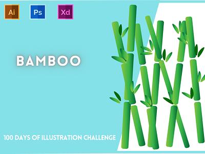 Day-17-Plant Illustration-Bamboo vector branding ui logo graphic design ux illustration flat design typography