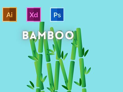 Day-17-Plant Illustration-Bamboo vector branding ui flat logo graphic design ux illustration design typography