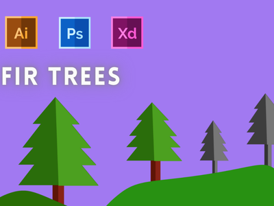 Day-19-Plant Illustration-Fir Trees typography vector branding flat ui logo graphic design ux illustration design
