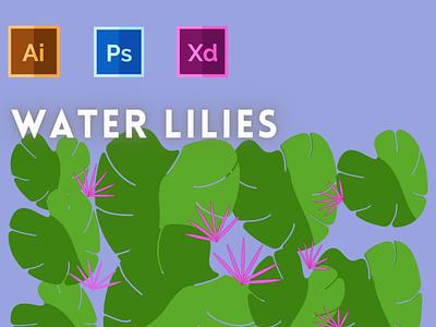 Day-20-Plant Illustration-Water Lilies vector branding ui logo graphic design ux illustration flat design typography