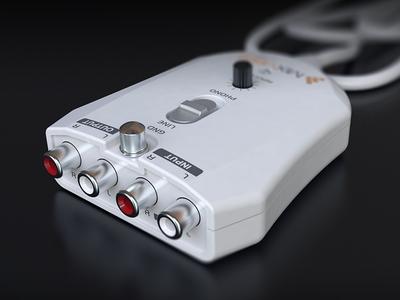 External USB Soundcard - 3D render rhinoceros v-ray 3d render 3d sorin oprisor soundcard interface usb design clean visualization recording
