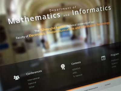 Mathematics Department Website mathematics webdesign wordpress cms css html javascript jquerry design website clean warm
