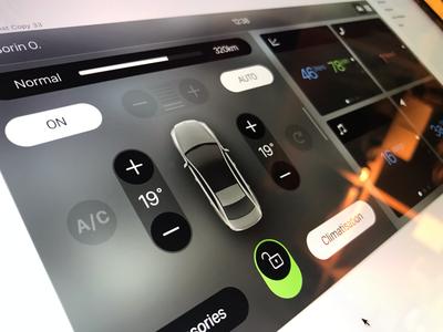 Infotainment project ios hvac clean prototype car automotive ux ui