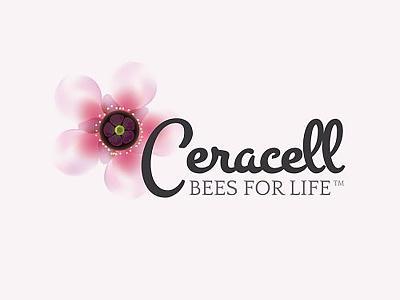 Ceracell Logo Design ceracell graphic design pollen bees logo design