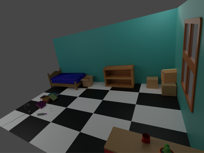 Room two - habitacion dos 3d illumination 3dblender 3d art