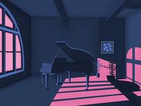 Hello Dribbble - Grand piano
