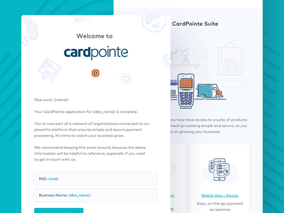 Cardconnect Email Design saas fintech responsive illustration ui email