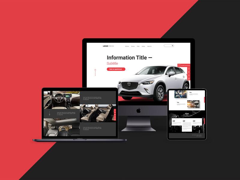 Daily Design #3 automotive webdesign ui design concept