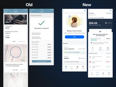 Progressive Leasing Customer Dashboard account dashboad ionic framework web app ux ui