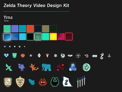 Zelda Theory Youtube Design Kit nintendo icons design kit zelda
