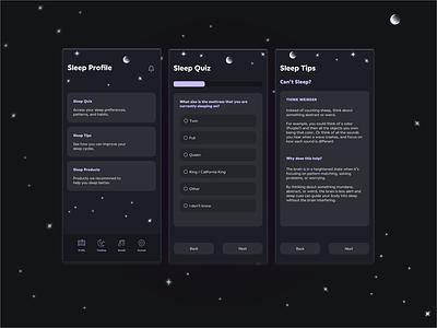 Sleep App Idea dark ui mobile app sleep