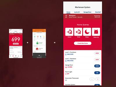 Daily UI 21 *REMIX*: Home Monitoring mobile app ui dailyui