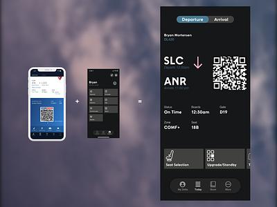 Daily UI 24 *REMIX*: Boarding Pass app ui mobile dailyui