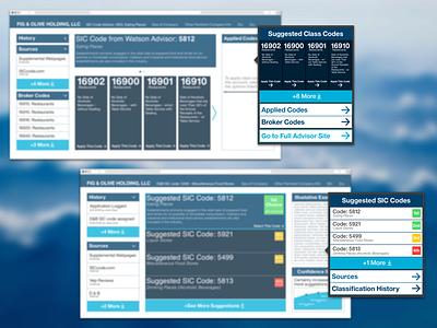 Insurance Underwriter Tool ui ux web