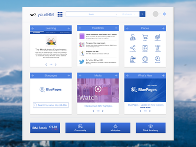 IBM W3 Redesign web ui ux
