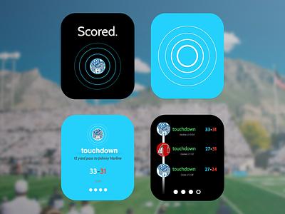 Scored For Apple Watch app smartwatch ui ux
