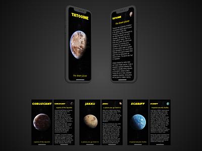 Star Wars Planets Mobile Website starwars ui