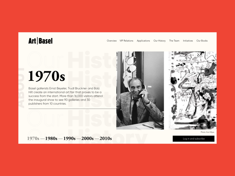 Art Basel about page concept design
