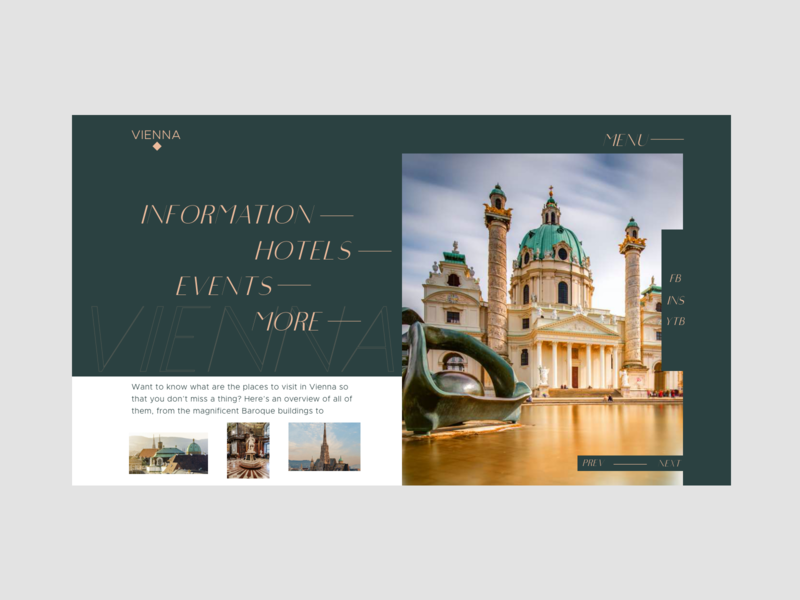Vienna typography clean branding illustration uiux landingpage homepage website ux web ui vienna