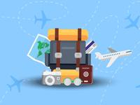 Travel Banner Illustration 2
